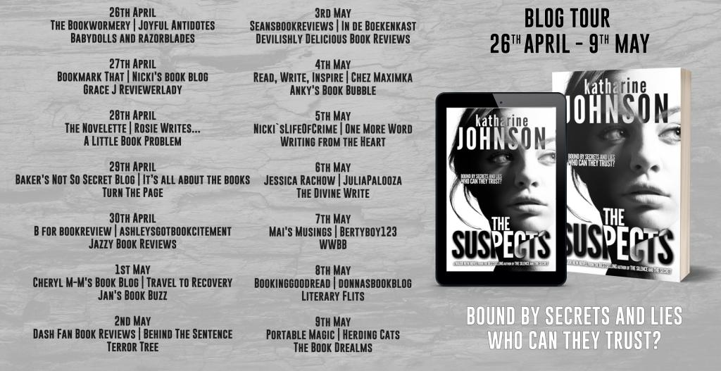The Suspects Book Review Blog Tour Banner